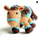 Kleines Cowboypferd