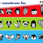 Der monochrome Zoo zum Applizieren & Plotten